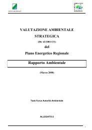 Rapporto Ambientale - Regione Abruzzo