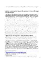 HSE risk exaggerated Comment 29 Aug 09 - Asbestos in Schools