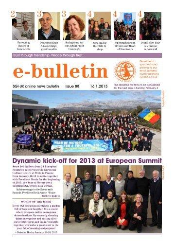 Dynamic kick-off for 2013 at European Summit - SGI-UK E-Bulletin ...