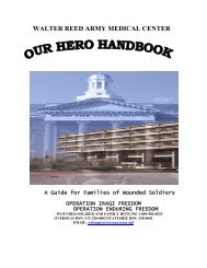 Walter Reed Army Medical Center is located at - Network Of Care