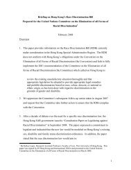 Briefing on Hong Kong's Race Discrimination Bill to the United ...
