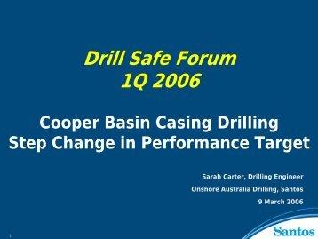 Casing Drilling Trials. - Drillsafe.org.au