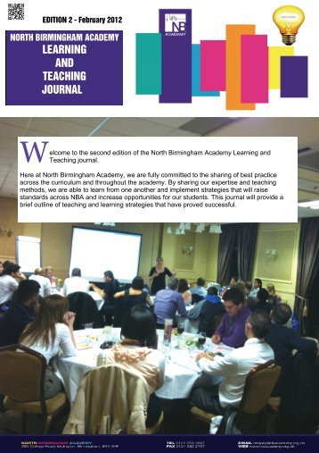 LEARNING AND TEACHING JOURNAL - North Birmingham Academy