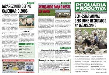 jacarezinho define calendário 2006 bem-estar animal gera ... - ETCO