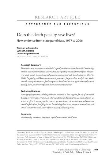 death penalty thesis statement con