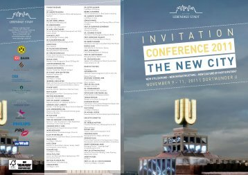 THE NEW CITY CONFERENCE 2011 - Lebendige Stadt