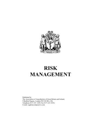 RISK MANAGEMENT - aagbi