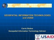 Geospatial Information Technologies and USAID - Belfer Center for ...