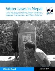 Water laws in Nepal - WaterAid
