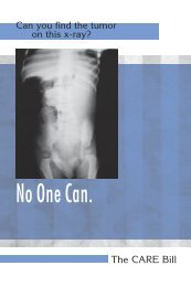 CARE Bill Brochure - American Society of Radiologic Technologists