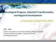 Technological Progress, Industrial Transformation and Regional ...
