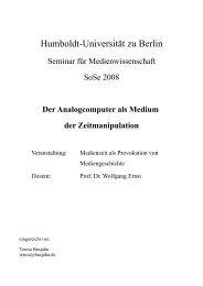 Der Analogcomputer als Medium der Zeitmanipulation
