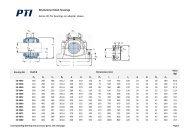SD3000 plummer block housings for bearings on ... - PTI Europa A/S
