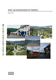 Areal- og transportanalyse for Hadeland - Oppland fylkeskommune