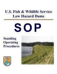 U.S. Fish & Wildlife Service Low Hazard Dams - Association of State ...