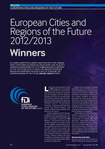 European Cities and Regions of the Future Winners