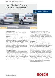 Motion Blur - Bosch Security Systems