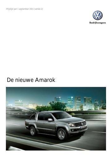 VWBW Amarok Prijs-en productinfo per 010911.pdf - Fleetwise