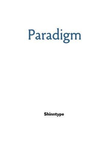 Paradigm PDF specimen