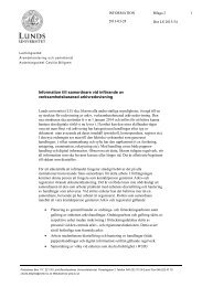 Information till samordnare vid införande av ... - Lunds universitet