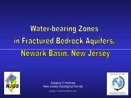Water-bearing Zones in Fractured Bedrock Aquifers, Newark Basin ...
