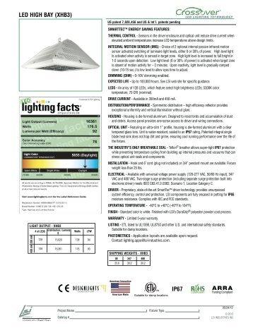 LED HIGH BAY (XHB3) IP67 - LSI Industries Inc.