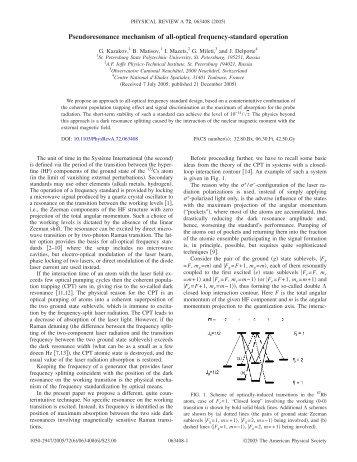 Pseudoresonance mechanism of all-optical frequency-standard ...
