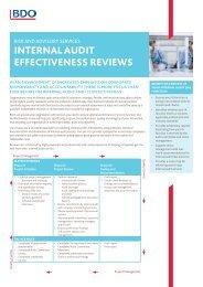 INTERNAL AUDIT EFFECTIVENESS REVIEWS - UK.COM