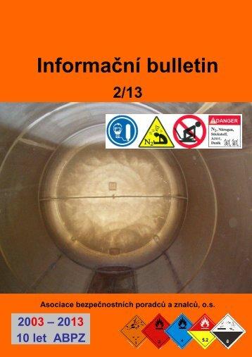 Informační bulletin 2-13c - Česká asociace čisticích stanic = CACS