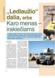 """""""Ledlaužio"""" dalia,arba Karo menas – irakiečiams - Krašto apsaugos ..."""