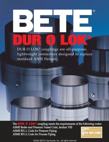 DUR O LOK - BETE Fog Nozzle, Inc.