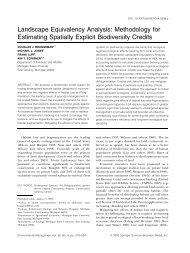 Landscape Equivalency Analysis - Ecosystem Marketplace