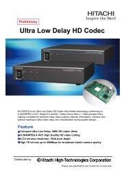Ultra Low Delay HD Codec - Hitachi High Technologies America, Inc