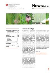 Newsletter - May 2013 - FR - Alpine Space Programme