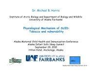 Alaska Infant Safe Sleep Summit - University of Alaska Fairbanks