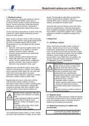 Bezpečnostní pokyny - FLUIDTECHNIK BOHEMIA, sro