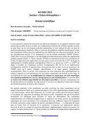 AO INSU 2013 Section « Océan-Atmosphère ... - Mercator Océan
