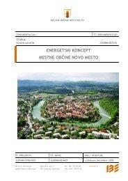 Energetski koncept - Mestna občina Novo mesto