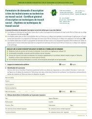 Certificat général d'inscription en techniques de travail social