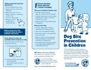 Dog Bite Prevention in Children - The University of Tennessee ...