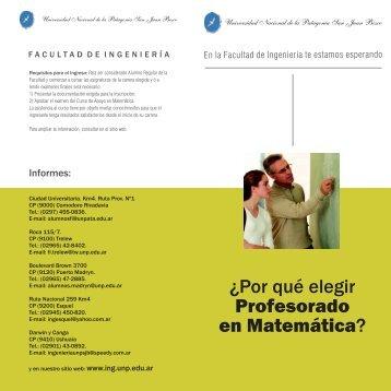Folleto Modelo Prof Matematica.cdr - Facultad de Ingeniería