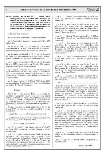 La délimitation et la classification du domaine minier - Ministère de l ...