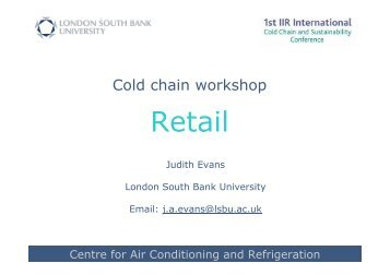 Cold chain WS - retail JE v3 - Institute of Refrigeration