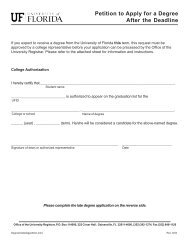 Late Degree Application - College of Agricultural and Life Sciences