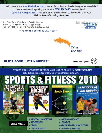 **kinetic sports newsletter 3 2010 FINAL - Kinetic Video