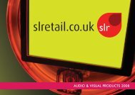audio & visual products 2008 - SLRetail