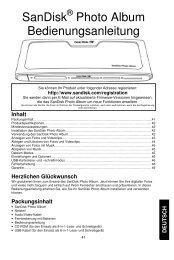 SanDisk Photo Album Bedienungsanleitung - Produktinfo.conrad.com