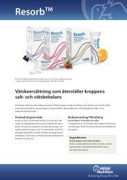 Resorb - Nestlé Nutrition