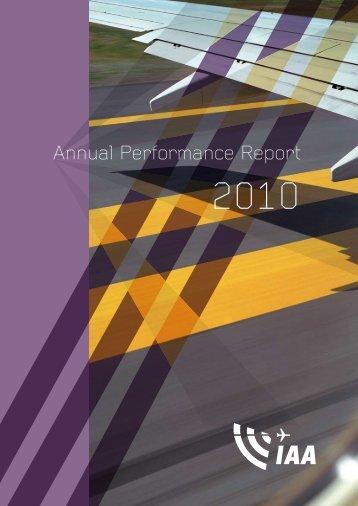 Annual Performance Report - Irish Aviation Authority