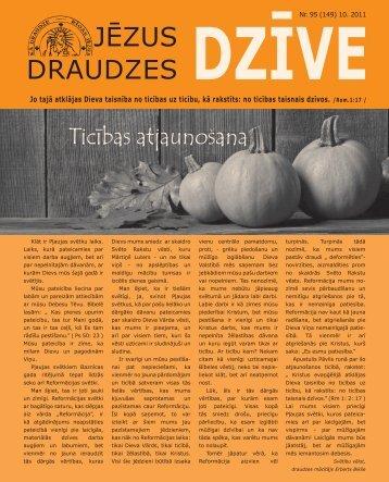 Oktobra izdevums - Rīgas ev. lut. Jēzus draudze